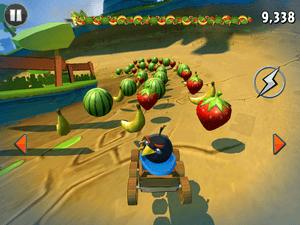 Angry Birds Go! includes a fruit-smashing mode.