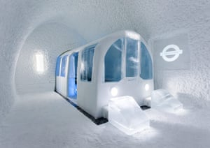 Icehotel, Sweden: Mind the gap art suite, Icehotel
