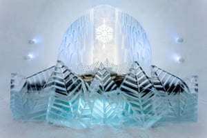Icehotel, Sweden: Frozty Flower art suite, Icehotel, Sweden