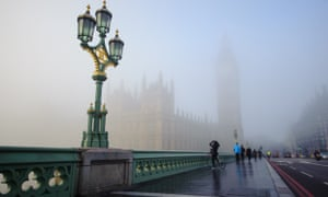 Parliament in the fog on 11 January 2013.