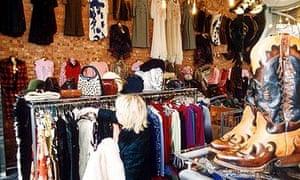 A vintage shop: where shoppers are 'surrounded by stories'.