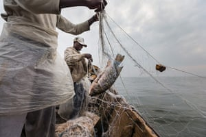 WWF Virunga Campaign: Fisherman working in Vitshumbi fishing village