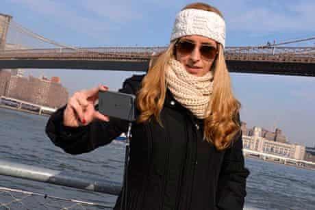 Brooklyn Bridge  tourist.