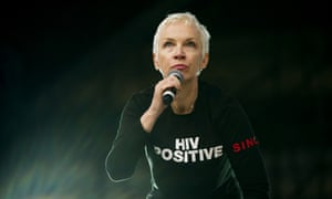 Annie Lennox performs at the tribute concert to Nelson Mandela in Cape Town, South Africa.