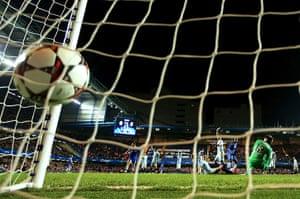 chelsea v steau: Demba Ba's goal is disallowed