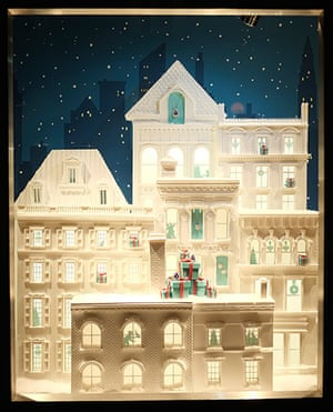 Christmas windows: Tiffany Christmas window display on Old Bond Street