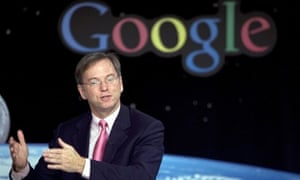 Google's Eric Schmidt at a press conference in NASA Ames Research Center on September 28, 2005.