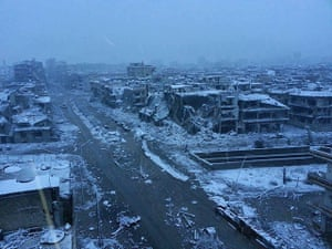 Winter in Syria: Homs in the snow