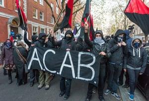 Cops off campus protest: ACAB protestors