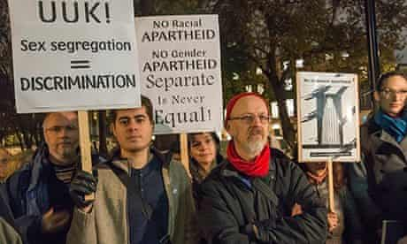 Protest Against Sex Segregation in UK Universities