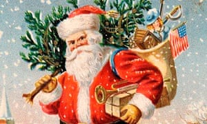 Traditional illustration of Santa Claus or Father Christmas