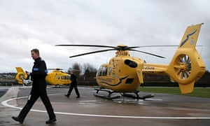 EC135 helicopters grounded