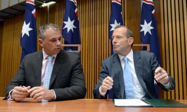Northern Territory chief minister Adam Giles and Tony Abbott.