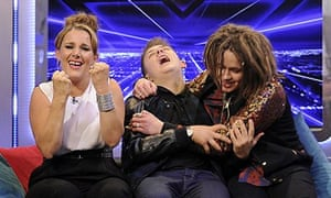 The X Factor finalists Sam Bailey, Nicholas McDonald and Luke Friend. Photograph: Jonathan Hordle/Th