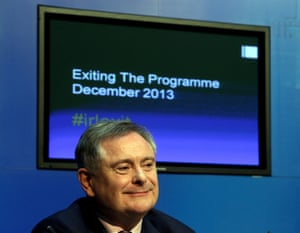 Minister for Public Expenditure Brendan Howlin at a press conference as part of day-long briefings to mark the exit from the bailout this coming Sunday.