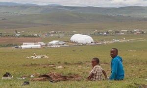 Huge marquee erected in Qunu to shelter the dignitaries attending Nelson Mandela's funeral