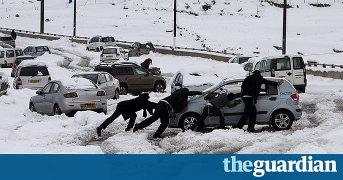 Middle east under snow in pictures world news the for Easterns automotive group eastern motors