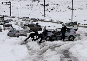 Middle East under snow – in pictures