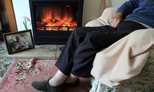 Older person in armchair