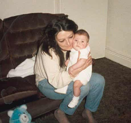 Paris Lees as a baby with Mama.
