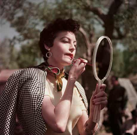 Ava Gardner on the set of The Barefoot Contessa, Tivoli, Italy, 1954