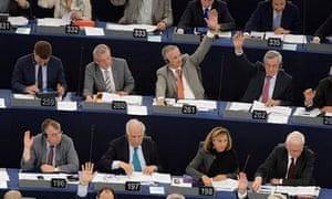 EU parliament session in Strasbourg