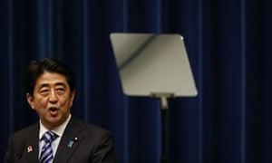 Shinzo Abe, Japan's prime minister