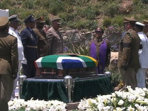 Nelson Mandela's coffin is laid to rest