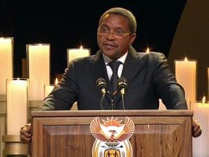 President of Tanzania, Jakaya Kikwete. Tanzania supported the ANC during the struggle against apartheid
