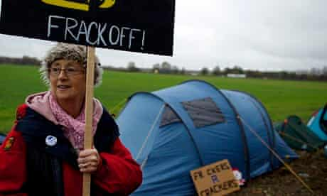 Anti-fracking protest at Barton Moss road, Manchester