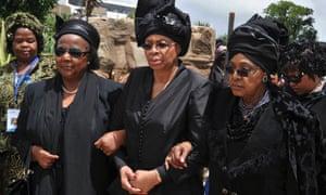 Graca Machel, widow of Nelson Mandela and Winnie Mandela.