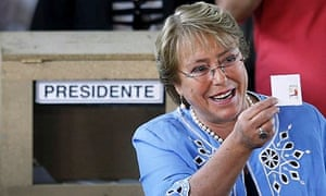 chile president michelle bachelet wins election