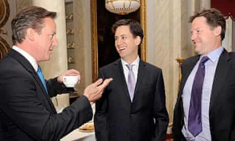 David Cameron, Ed Miliband, Nick Clegg