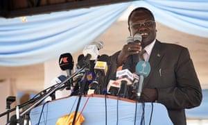 Riek Machar, former vice-president of South Sudan