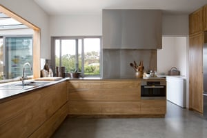 Homes - Perth House: interior of kitchen with wooden cupboards