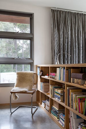 Homes - Perth House: interior of room with bookcase and chair