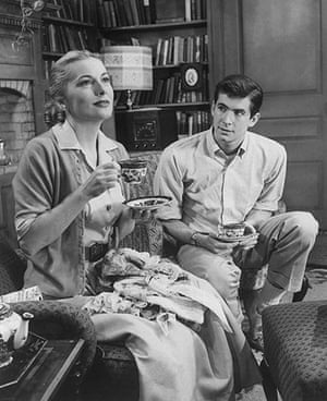 Joan Fontaine in pictures: Joan Fontaine and Tony Perkins in Tea and Sympathy