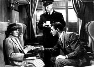 Joan Fontaine in pictures: Joan Fontaine, Billy Bevan and Cary Grant in Suspicion