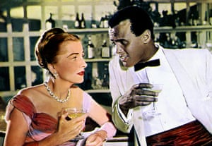 Joan Fontaine in pictures: Joan Fontaine and Harry Belafonte in Island in the Sun