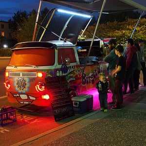 VW camper vans: VW camper as a burger van