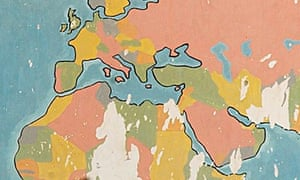world map in colour