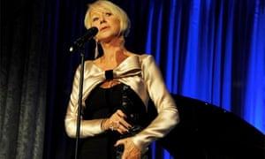 Helen Mirren accepts Evening Standard award for best actress