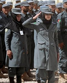 Women members of the Afghan national police