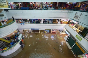 Extreme weather: floodwaters that inundated the Cipulir textile market in Jakarta