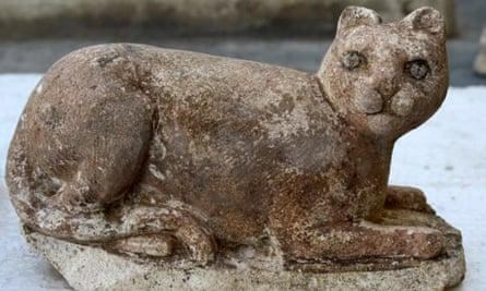 The cat-goddess Bastet found amongst ruins in Alexandria, Egypt