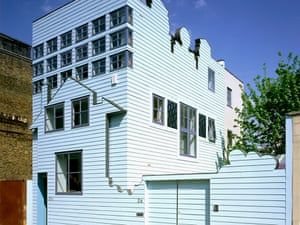 The Blue House … Sean Griffiths' house in Hackney, completed 2002