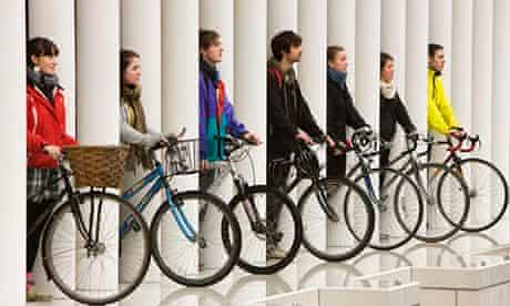 Cycling students