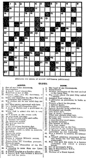 Can You Solve The First Guardian Crossword Archive 5 January 1929