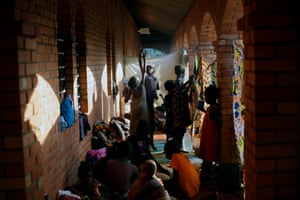 8 Dec: Displaced children play in Bangui's monastery where they and more than 10,000 others found refuge