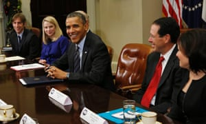 Obama with tech leaders
